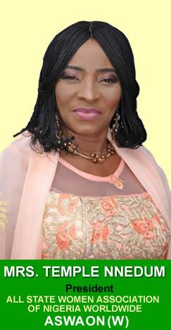 Mrs. Temple Nnedum - president aswaonw